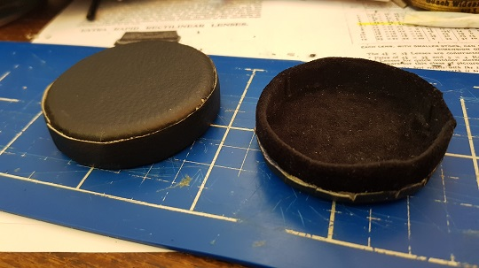 Attaching the final lens cap wall covering